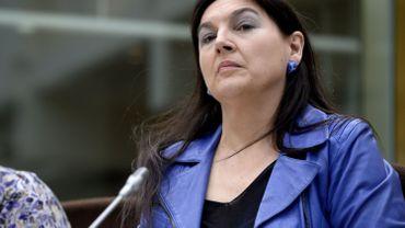 Marie-Christine Marghem durant la séance de la commission Economie de la chambre. Toute le politique nucléaire du gouvernement remise en cause par l'opposition.