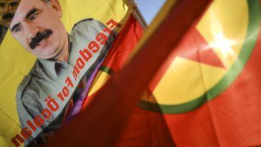 Les Kurdes de Belgique manifestent en soutien aux grévistes de la faim en Turquie