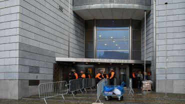 Forte surveillance policière ce matin au Palais de Justice de Liège dans le cadre du procès pour l'assassinat de Jeff Nyssen.