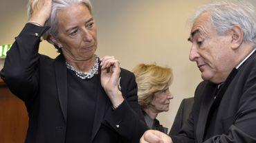 Christine Lagarde, ministre française de l'Economie, ici en discussion avec Dominique Strauss-Kahn sur cette photo de'archive datant de 2010