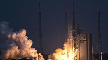 Lancement d'une fusée Ariane 5 à Kourou le 14 février 2017