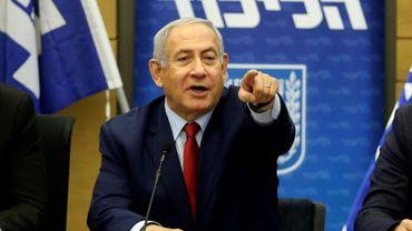Le Premier ministre israélien Benjamin Netanyahu le 24 décembre 2018 au Parlement israélien