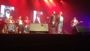 Quelques candidats sur la scène du Palais des Beaux-Arts de Charleroi