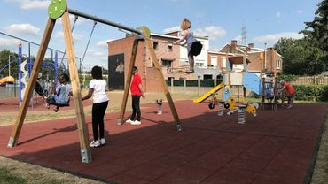 Liège : inauguration et rénovations de plaines de jeux