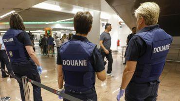 Actions de zèle des douaniers à Brussels Airport. Photo d'illustration
