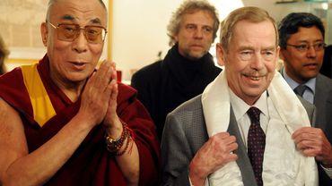 Havel avec le Dalaï Lama