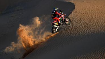 L'Argentin Benavides remporte la 5e étape du Dakar, catégorie moto, et prend la tête du général