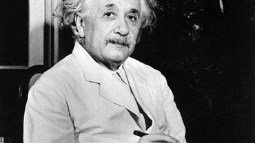 Photo non datée d'Albert Einstein, auteur de la théorie de la relativité et Prix Nobel de Physique en 1921