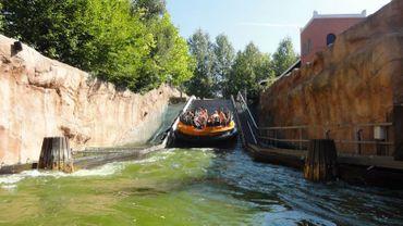 Dimanche, deux visiteurs du parc Walibi sont tombés dans les eaux de la Radja River (illustration).