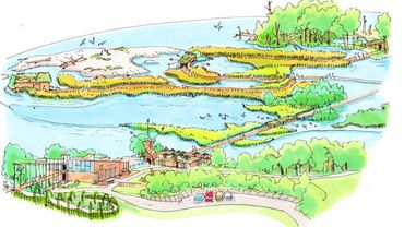 Le futur circuit touristique sera aménagé sur l'étang de Virelles en préservant la faune et la flore