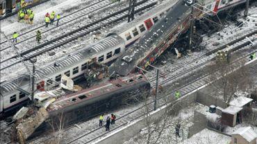 19 personnes sont décédées dans l'accident de train de Buizingen, le 15 février 2010
