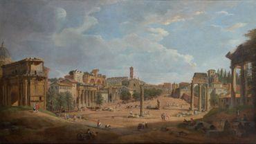 Giovanni Paolo Panini (Plaisance, 1691 - Rome, 1765), Vue du Forum romain