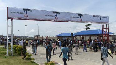 Le poste frontière commun entre le Bénin et le Nigeria, lors de son inauguration le 23 octobre 2018