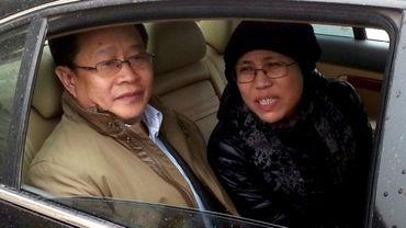 Liu Xiaobo et Liu Xia à Pékin en Chine, le 23 avril 2013