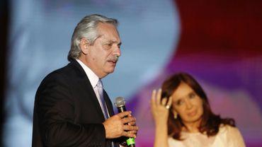 Le nouveau président Alberto Fernandez (g) et sa vice-présidente, Cristina Fernandez de Kirchner.