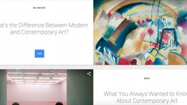 L'art contemporain selon Google
