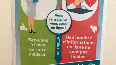 """""""Google n'est pas médecin"""", voilà le slogan de la nouvelle campagne lancé par la Société Scientifique de Médecine Générale (SSMG) etBayer ©RTBF"""