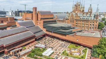 Vue aérienne de la British Library à St Pancras