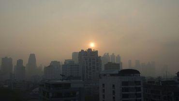 Smog sur Bangkok le 14 janvier 2019