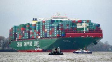 Arrivée à Zeebrugge du plus gros porte-conteneurs du monde
