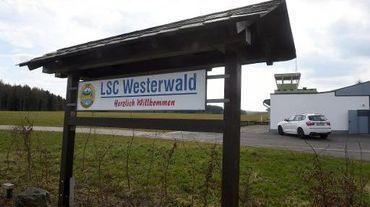 Le club d'aviation allemand LSC Wertarwald dont Andreas Lubitz était membre, le 26 mars 2015 à Montabaur, en Allemagne
