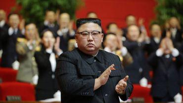Kim Jong Un au 8e Congrès du parti des Travailleurs, à Pyongyang, le 11 janvier 2021