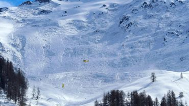 Le site d'une avalanche en Autriche le 15 mars