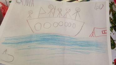 L'un des dessins réalisés par les enfant réfugiés