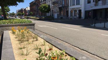 A Charleroi, les plantes annuelles sont en partie remplacées par des vivaces moins gourmandes en eau.
