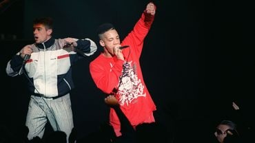 JoeyStarr et Kool Shen, les chanteurs du groupe de rap NTM