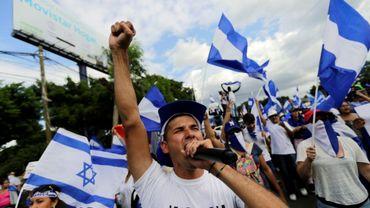 Manifestants anti-gouvernementaux à Managua samedi 18 août 2018