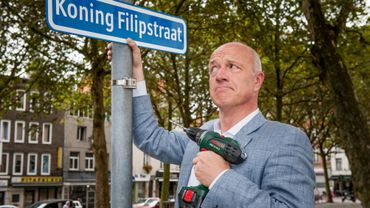 Une rue d'Anvers a porté temporairement le nom du nouveau roi.