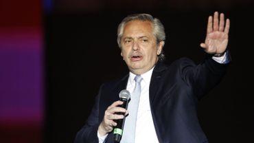 Le nouveau président de centre gauche Alberto Fernandez.