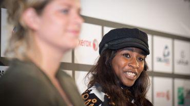 Elodie Ouédraogo avec Kim Clijsters