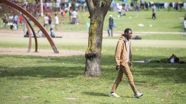 Migrants au Parc Maximilien à Bruxelles