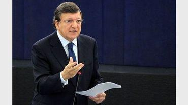 Le président de la Commission européenne, José Manuel Barroso, au Parlement européen à Strasbourg le 13 juin 2012