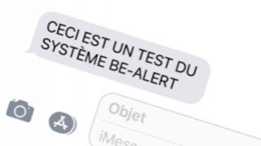 Voici le genre de message que des milliers de personnes vont recevoir dans la région de Mons ce matin.