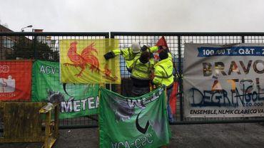 Le blocage du site NLMK à Clabecq dure depuis 3 semaines