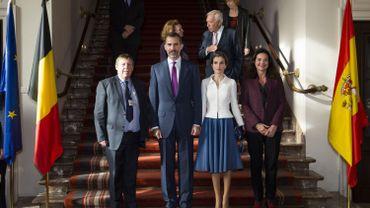 Le roi Felipe VI d'Espagne en visite officielle à Bruxelles