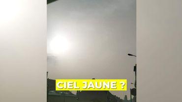 Météo: voilà pourquoi le ciel est jaune