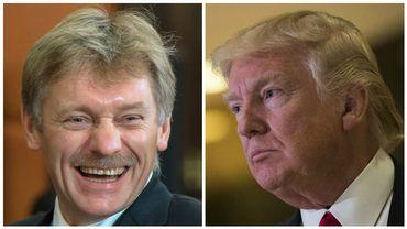 Dmitri Peskov, porte-parole de la présidence russe, et Donald Trump, président élu des Etats-Unis.