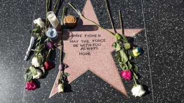 Hommage à Carrie Fisher à Los Angeles