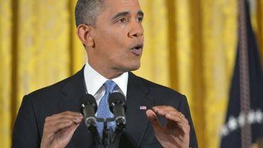 Barack Obama en conférence de presse à la Maison Blanche
