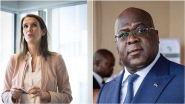 """Discussion """"très cordiale"""" et """"constructive"""" entre Mme Wilmès et le président Tshisekedi"""