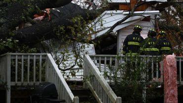 Une maison écrasée par la tempête