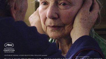 Amour, l'affiche avec Emmanuelle Riva