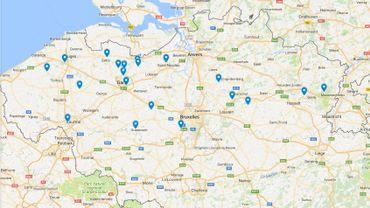 Voici la carte des 20 nouveaux radars tronçons en Flandre