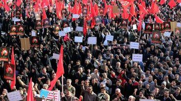 Manifestation le 4 janvier 2016 à Téhéran contre l'exécution de Nimr al-Nimr en Arabie