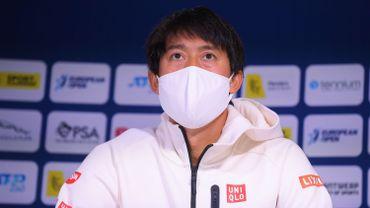 Kei Nishikori forfait pour l'ATP 250 d'Anvers.