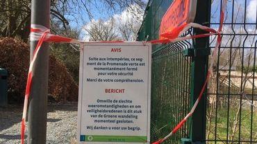 Les parcs bruxellois rouvrent progessivement après la tempête